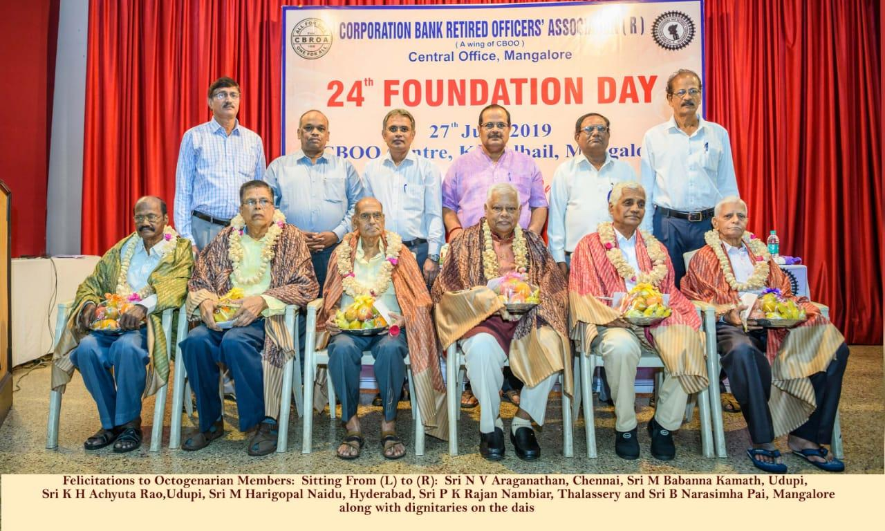 FELICITATION TO OCTOGENARIANS
